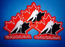 3 Lot Team Canada Olympic World Junior WJHC Hockey Iron On Hat Jacket Patches E