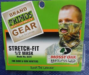 PRIMOS STRETCH FIT 1/2 MASK MOSSY OAK BREAK-UP