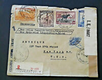 1942 Coquilhatville Belgian Congo To New York NY Censorship Airmail Cover
