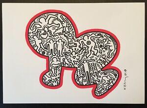 Keith Haring - Pop Art - Original Marker / Paint Drawing (X-IV)