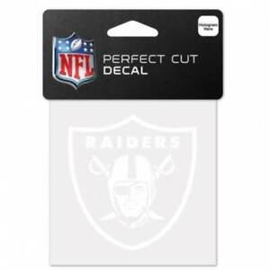 "Las Vegas Oakland Raiders 4"" x 4"" - White Logo 4x4 Die Cut Decal"