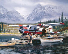 William Phillips LAST CHANCE, de Havilland Beaver, gilcee canvas #13/55