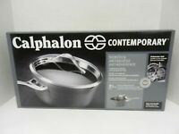 CALPHALON CONTEMPORARY NONSTICK 3.5 QUART POUR & STRAIN SUACE PAN ~ NIB