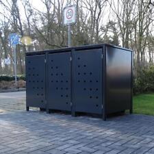 3 Mülltonnenboxen Modell No.3 Anthrazit komplett RAL7016 für 240Liter Mülltonnen