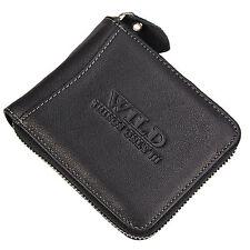 Bag Street Herren Geldbörse Leder Portemonnaie Geldbeutel mit Reißverschluss