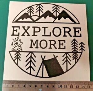 Explore More #Camping #Vanlife logo - Car/Van/Camper/Bike/Laptop Decal Sticker