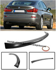 For 10-Up BMW F07 5-Seres GT Only ABS Plastic Black Rear Trunk Wing Spoiler