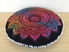 "28"" Round Floor Pillow Cushion Cover Floral Mandala Room Decor Pouf Covers Throw"