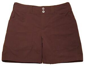 REI Co-op Womens Wine Regular Fit Walking Hiking Outdoor Shorts Pockets Size 8