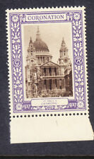 "1937 Coronation ""Purple"" - St Paul's Cathedral -  Mint"