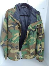 US Army Cold Wet Weather Gen 1 ECWCS Waterproof Woodland Goretex Parka, Med/Reg
