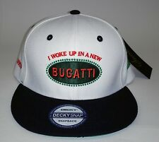 Hip Hop Snapback  Hat I Woke Up In a New Bugatti  Urban Street wear