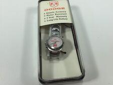 Dodge Silver White Wrist Watch NOS Women's Quartz Water Resistant 31081 MPH