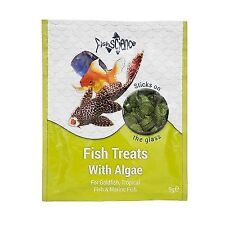 FishScience Fish Treats + Algae 9g Aquarium Food Science Tropical stick on Tabs