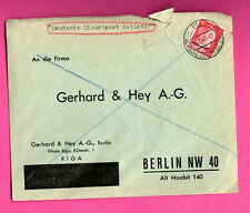 GERMANY LATVIA OCCUPATION ENVELOPE USED RIGA 1943s 668
