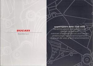 1997 Ducati 900SS NOS 91370361B original 132 page owners manual mint condition