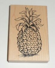 """Tropical Pineapple Rubber STAMP Wood Mounted NEW 4 1/2"""""""