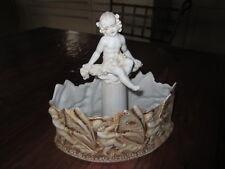 Superbe jardinière ancienne en porcelaine type biscuit, Amphora, Royal Dux