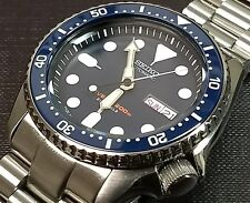 "SEIKO SKX007, SKX009, ""MM 300 STYLE"" FULLY LUMED CERAMIC BEZEL INSERT-BLUE"