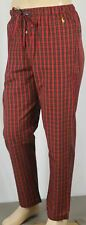 POLO Ralph Lauren Red Black Plaid Pajamas Lounge Sleep Pants Yellow Pony