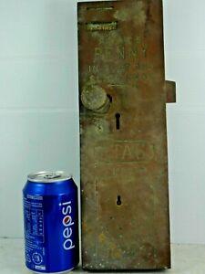 VERY OLD BRASS PENNY IN THE SLOT TOILET DOOR LOCK - ETAS No 5 - RARE - L@@K