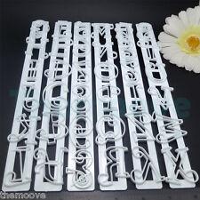6PCS Number Alphabet Letter Paste Frill Edge Frilling Cake Cutter Fondant Mould