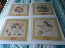 4 Norman Rockwell Stages of Love / Life  Prints 1955 calendar art. By B & B C