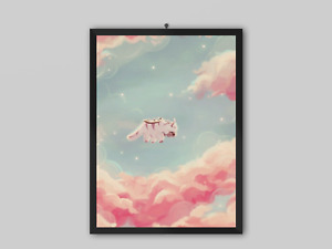 Avatar legend of Aang Poster Appa anime New Wall Art print design Size A4 A3 A2