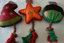 Petface Christmas Dog Toy - Pack of 3 Doggy Decoration Toy