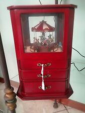 portagioie portagioielli cofanetto legno carillon giostra carosello