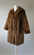 Vintage Fur Coat Real Original Jacket 40s 50s Red Brown Fox Mink Long 12-14-16