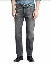 Polo Ralph Lauren Varick Slim Straight Jeans Size 32x30 Black Distressed NWT$148