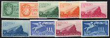 SAN MARINO 1943/50 - ESPRESSI - COLLEZIONE DI 9 VALORI DEL PERIODO