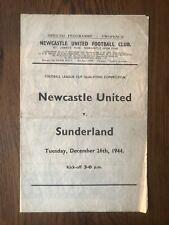 More details for newcastle united vs sunderland 44/45 football programme