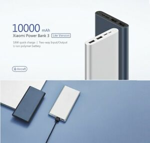 Xiaomi Power Bank 10000mAh Fast Mobile External Charger USB-C QC3.0 Battery Pack