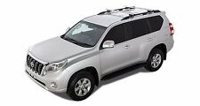 Vortex SX Silver 2 Bar Rhino Roof Rack to suit Toyota Prado 150 Series 11/09 on