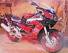 ART POSTER Suzuki R SSX Anniversary 1100 Red Black MOTORCYCLE Buck Lovell Photo