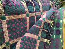 More details for lg traditional handwoven welsh wool tapestry fringed blanket 86