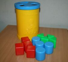 Vintage 1977 Fisher Price Shape Sorter Blocks Toy Made in Italy