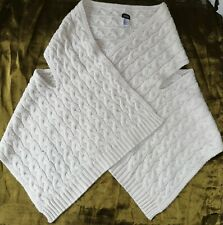 KATE SPADE SATURDAY CABLE KNIT ALPACA WOOL BLEND PONCHO FREE SIZE