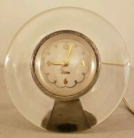 Vintage Working Mid Century Modern CHELSEA CLOCK COMPANY Lucite Desk Shelf Clock