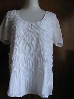 Calvin Klein Jeans women's white cotton decorated  top Size Medium NWT