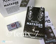 NEW Rockbox Matador Boost Overdrive Distortion TS9 Pre-Amp Solo TS808 Gain Tube