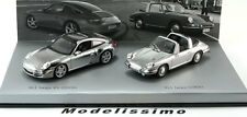 1:43 Minichamps Porsche 911 Targa-Set 1966/2006 chrome --2 MODELS--