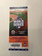 2015 World Series Ticket NY Mets Kansas City Royals 2nd Title game 5