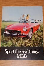 "MGB 1970's Sales Brochure  Pub Number 2724 ""Sport The Real Thing"""