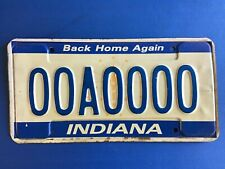2000 Indiana SAMPLE License Plate Tag