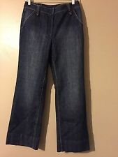Talbots Petites Stretch Dark Wash Wide Leg Jeans Size 6