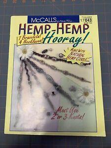 HEMP-HEMP HOORAY BOOKLET & LOT OF HEMP CORD