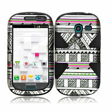 Samsung Galaxy Exhibit T599 IMPACT TUFF HYBRID Case Skin Cover Antique Aztec Blk